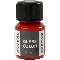 Glass Color Transparent lasimaali, punainen, 30 ml/ 1 pll