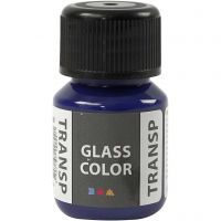 Glass Color Transparent lasimaali, briljantinsin, 30 ml/ 1 pll