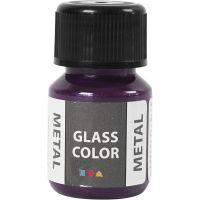 Glas Color Metal lasimaali, violetti, 30 ml/ 1 pll