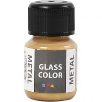 Glas Color Metal lasimaali, kulta, 30 ml/ 1 pll