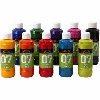 A-Color Lasimaali, värilajitelma, 10x250 ml/ 1 ltk