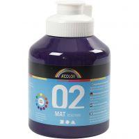 Koulu readymix-maali matta, matt, violet, 500 ml/ 1 pll