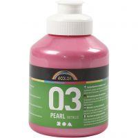 Koulu akryylimaali metallic, metallinen, vaaleanpunainen, 500 ml/ 1 pll