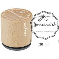 Puuleimasin, You're invited, Kork. 35 mm, halk. 30 mm, 1 kpl