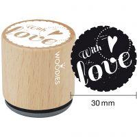 Puuleimasin, With love , Kork. 35 mm, halk. 30 mm, 1 kpl