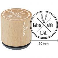 Puuleimasin, baked with LOVE, Kork. 35 mm, halk. 30 mm, 1 kpl