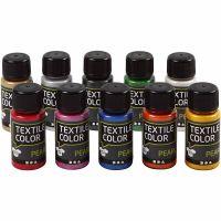 Textile Color Pearl, helmiäinen, värilajitelma, 10x50 ml/ 1 pkk
