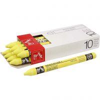 Neocolor 1, Pit. 10 cm, paksuus 8 mm, lemon yellow (240), 10 kpl/ 1 pkk