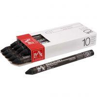Neocolor 1, Pit. 10 cm, paksuus 8 mm, black (009), 10 kpl/ 1 pkk