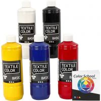 Textile Color, perusvärilajitelma, 5x500 ml/ 1 pkk