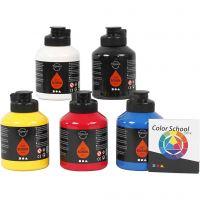 Pigment Art School, perusvärilajitelma, 5x500 ml/ 1 pkk