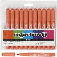 Colortime-tussit, paksuus 5 mm, mandariini, 12 kpl/ 1 pkk
