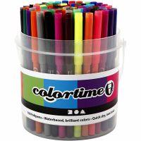 Colortime-tussit, paksuus 2 mm, värilajitelma, 100 kpl/ 1 prk