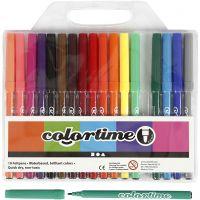 Colortime-tussit, paksuus 2 mm, värilajitelma, 18 kpl/ 1 pkk