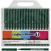 Colortime-tussit, paksuus 2 mm, tummanvihreä, 18 kpl/ 1 pkk
