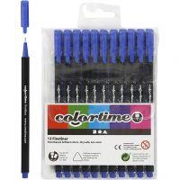 Colortime Fineliner, paksuus 0,6-0,7 mm, tummansininen, 12 kpl/ 1 pkk