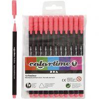 Colortime Fineliner, paksuus 0,6-0,7 mm, pinkki, 12 kpl/ 1 pkk