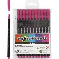 Colortime Fineliner, paksuus 0,6-0,7 mm, syklaami, 12 kpl/ 1 pkk