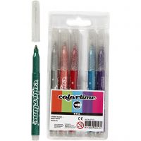 Colortime-kimalletussit, paksuus 2 mm, värilajitelma, 6 kpl/ 1 pkk