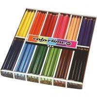 Colortime-värikynät, Pit. 17,45 cm, kärki 5 mm, JUMBO, värilajitelma, 12x12 kpl/ 1 pkk