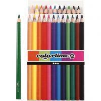 Colortime-värikynät, Pit. 17,45 cm, kärki 5 mm, JUMBO, värilajitelma, 12 kpl/ 1 pkk