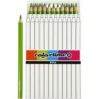 Colortime-värikynät, Pit. 17,45 cm, kärki 5 mm, JUMBO, vaaleanvihreä, 12 kpl/ 1 pkk
