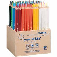 Lyra Super Ferby 1 värikynät, Pit. 18 cm, kärki 6,25 mm, värilajitelma, 96 kpl/ 1 pkk