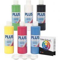 Plus Color- askartelumaali, perusvärilajitelma, 6x250 ml/ 1 pkk