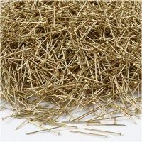Somistusneulat, Pit. 18 mm, paksuus 0,6 mm, kulta, 500 g/ 1 pkk