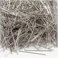 Somistusneulat, Pit. 37 mm, paksuus 0,7 mm, hopea, 500 g/ 1 pkk