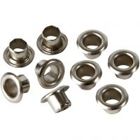 Metallisirkat, Kork. 4,5 mm, halk. 7,5 mm, aukon koko 4 mm, hopea, 100 kpl/ 1 pkk