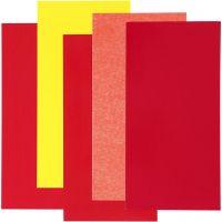 Color Dekor värikalvo, pun/orans/kelt.säv., 5 laj/ 1 pkk