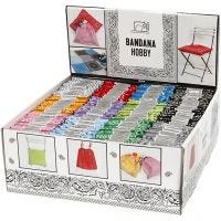 Bandana, värilajitelma, 144 kpl/ 1 pkk