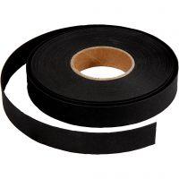 Nahkapaperinauha, Lev: 15 mm, paksuus 0,55 mm, musta, 9,5 m/ 1 rll