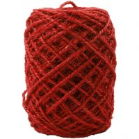 Luonnonhamppunaru, paksuus 1-2 mm, punainen, 150 m/ 1 rll