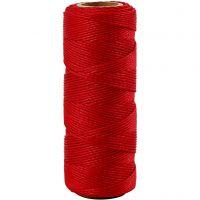 Bambulanka, paksuus 1 mm, punainen, 65 m/ 1 rll
