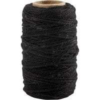 Puuvillanyöri, paksuus 1,1 mm, musta, 50 m/ 1 rll