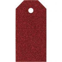 Pakettietiketit, koko 5x10 cm, 300 g, punainen, 15 kpl/ 1 pkk