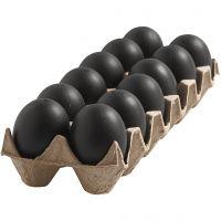 Muna, Kork. 6 cm, musta, 12 kpl/ 1 pkk