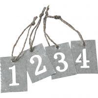 Metallietiketit, 4 kpl/ 1 set