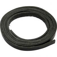 Nahkanauha, Lev: 10 mm, paksuus 3 mm, musta, 2 m/ 1 pkk