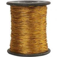 Hopeanyöri, paksuus 0,5 mm, kulta, 100 m/ 1 rll