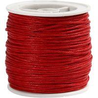 Puuvillanyöri, paksuus 1 mm, punainen, 40 m/ 1 rll