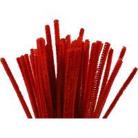 Askartelupunokset, Pit. 30 cm, paksuus 6 mm, punainen, 50 kpl/ 1 pkk