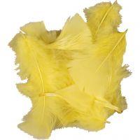 Höyhenet, koko 7-8 cm, keltainen, 500 g/ 1 pkk