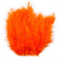 Höyhenet, koko 5-12 cm, oranssi, 15 kpl/ 1 pkk
