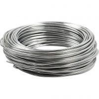 Alumiinilanka, pyöreä, paksuus 3 mm, hopea, 29 m/ 1 rll