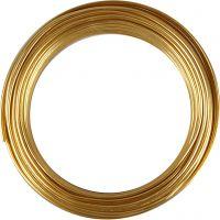 Alumiinilanka, pyöreä, paksuus 3 mm, kulta, 29 m/ 1 rll