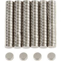 Magneettinappi, halk. 5 mm, paksuus 2 mm, 100 kpl/ 1 pkk