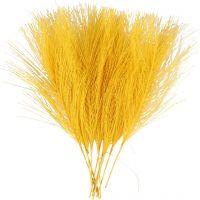 Keinotekoiset höyhenet, Pit. 15 cm, Lev: 8 cm, keltainen, 10 kpl/ 1 pkk